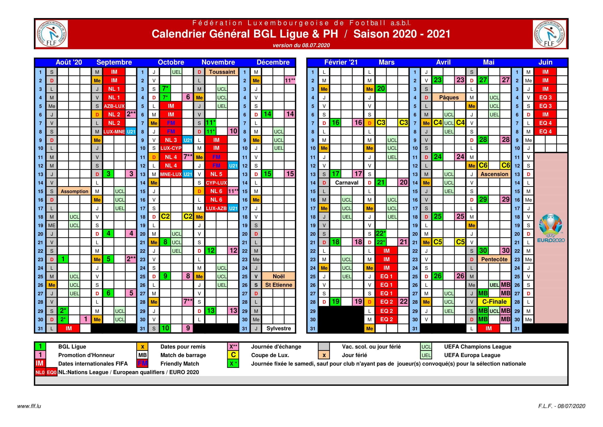 Saison 2020/21 programme détaillé PH