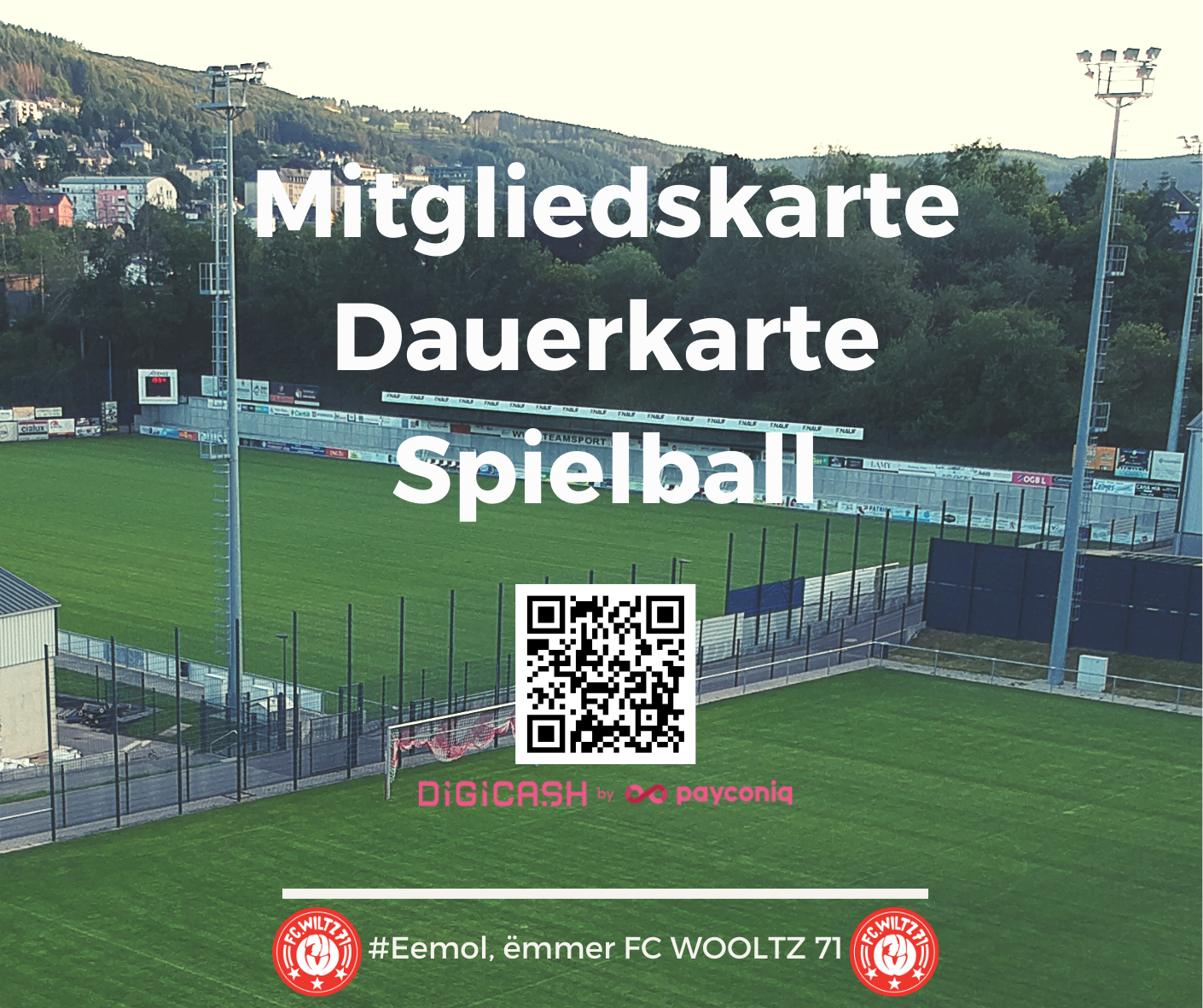 Mitgliedskarte - Dauerkarte - Spielball