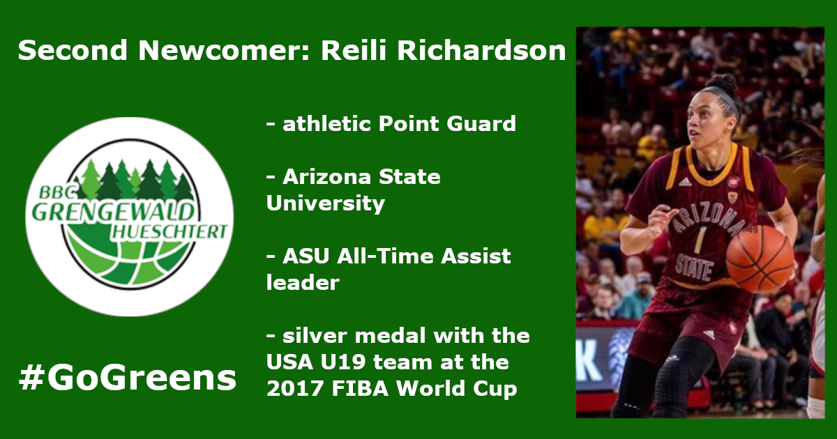 Reili Richardson goes GREEN