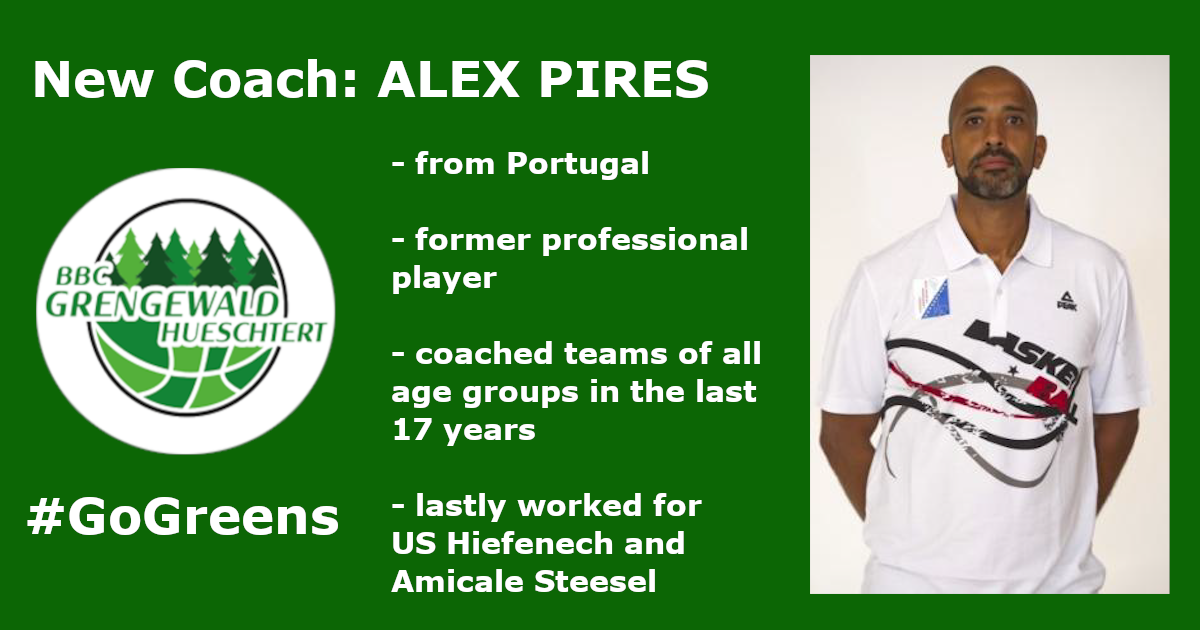 New Coach for the Greens - Alex Pires