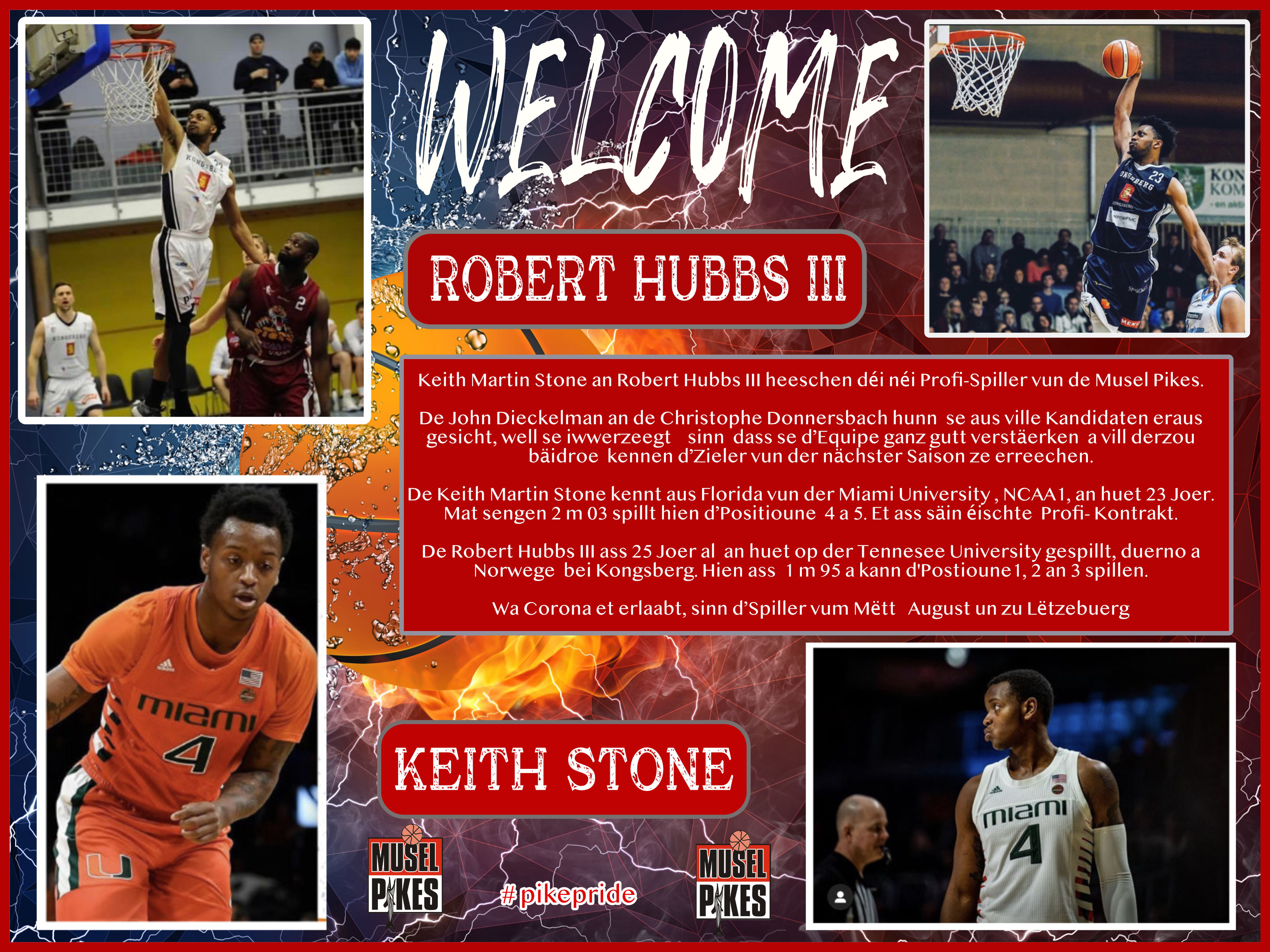 WELCOME ROBERT and KEITH