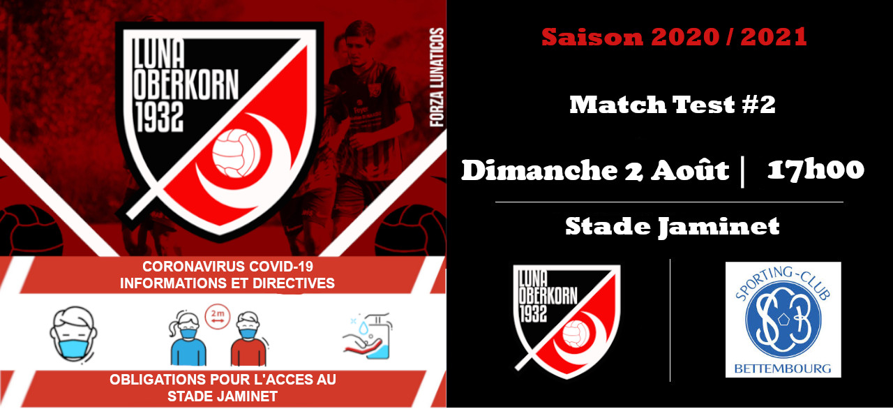 Saison 2020 / 2021 Match Test #2
