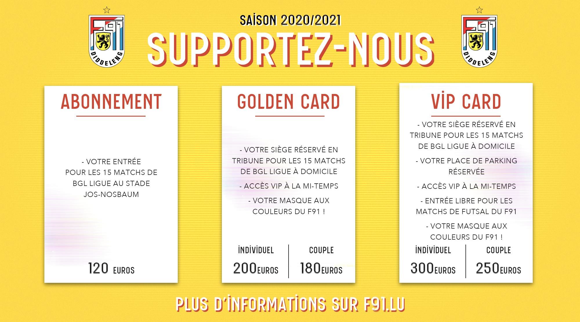 ABONNEMENTS SAISON 2020/21