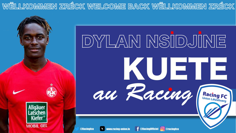 Mercato : Dylan Kuete rejoint le Racing pour 3 ans