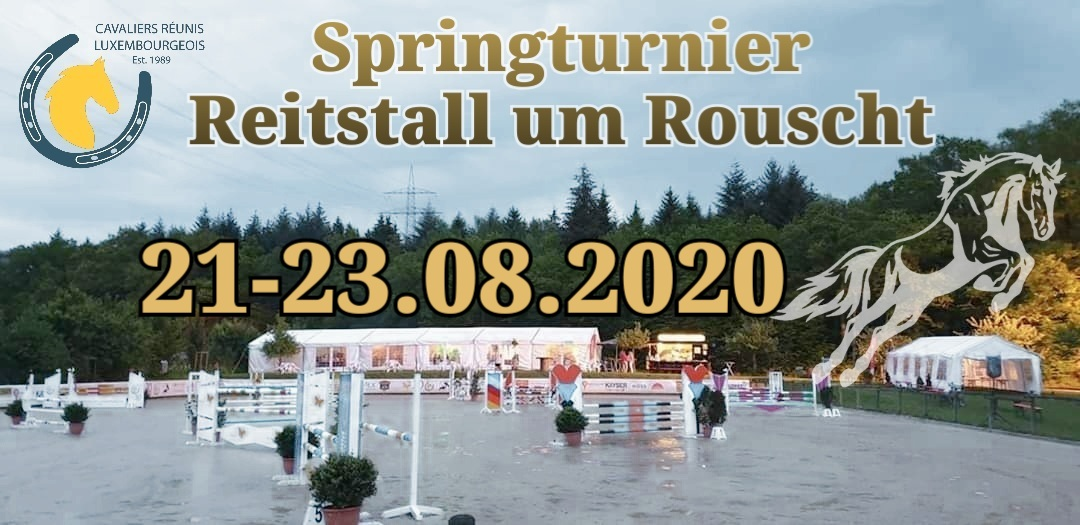Zeiteinteilung Springturnier Roost 21-23.08.2020