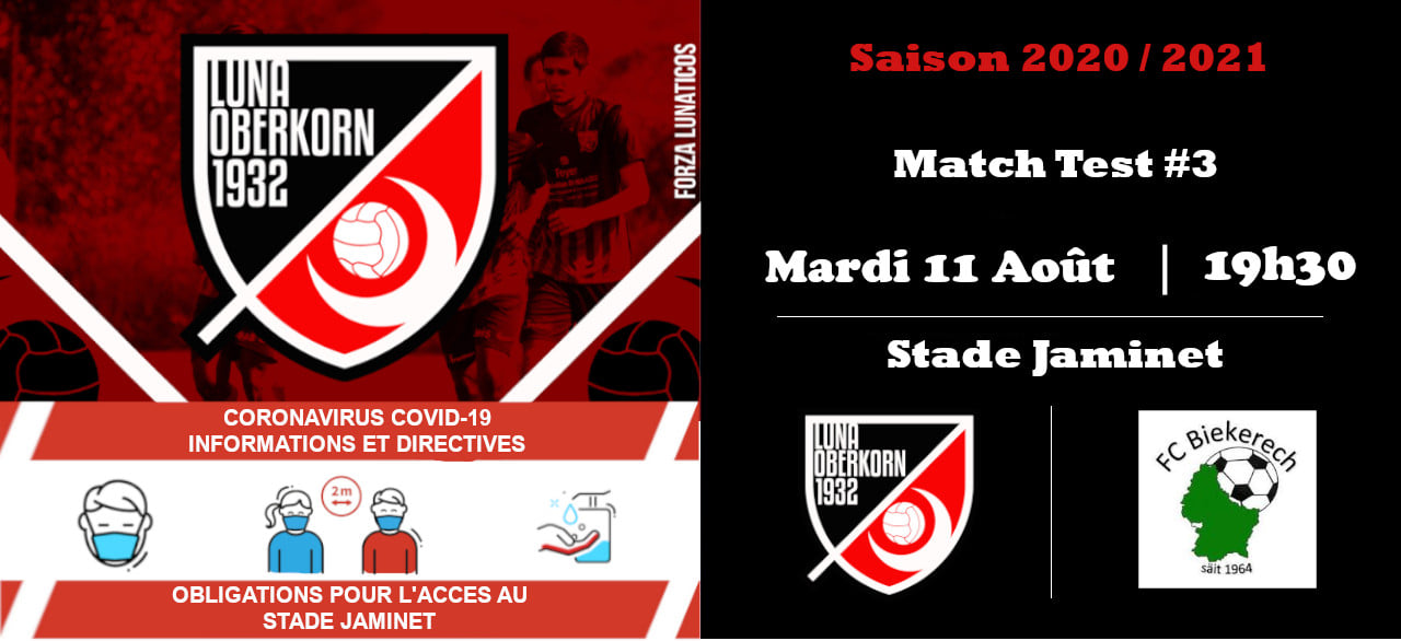 Saison 2020 / 2021 Match Test #3