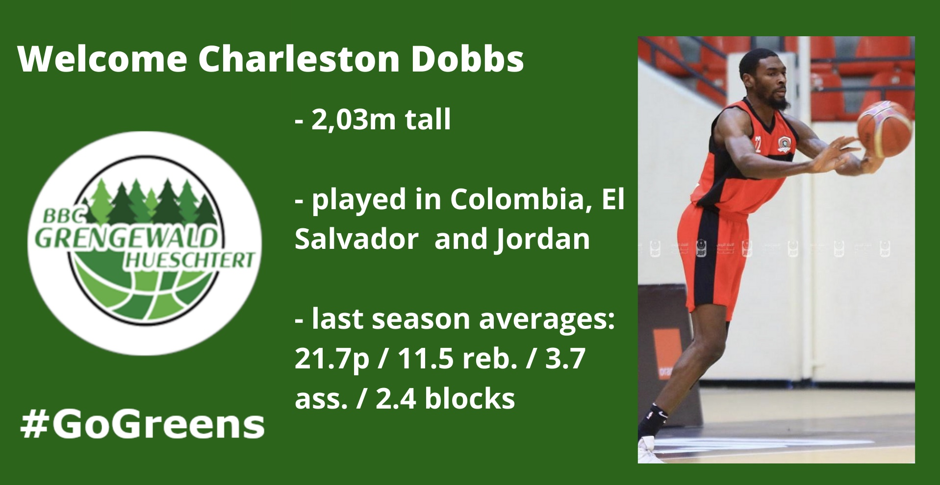 Welcome Charleston Dobbs