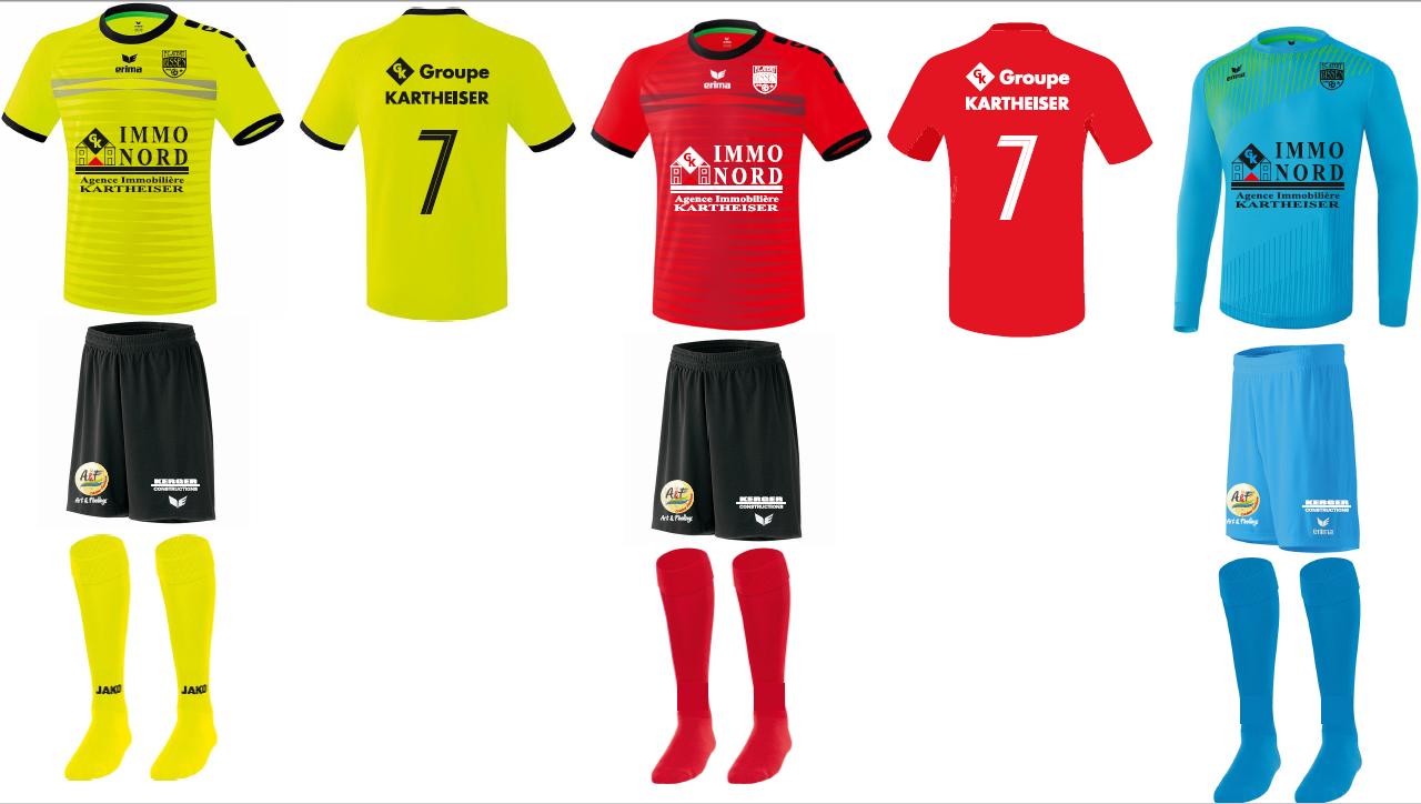 Uniformen vun eiser 1. Equipe vir Saison 2020-2021