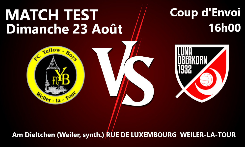 Saison 2020 / 2021 Match Test #7