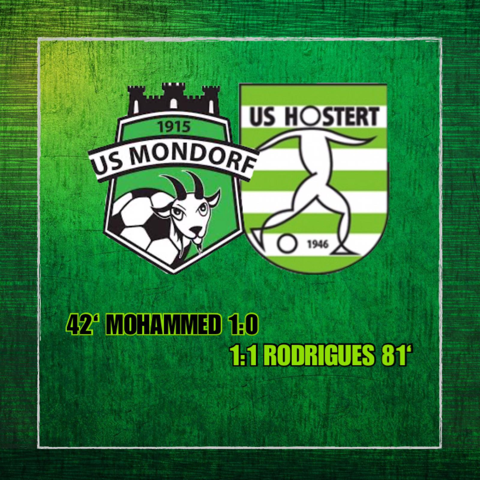 US MONDORF - US HOSTERT. 1 - 1 (1-0)