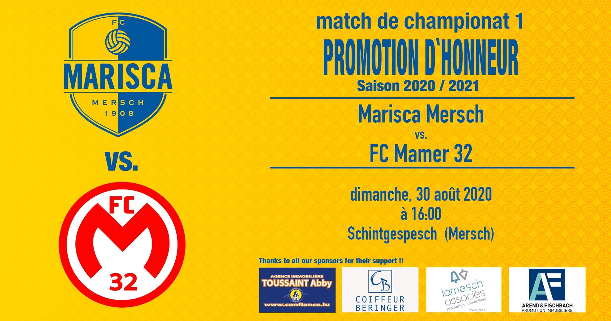 Eierepromotioun Match 1 : FC Marisca - FC Mamer 32