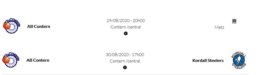 2 Testmatcher AB Contern Men - um Ewent 29 an 30 August - mat den neidegen Informatiounen fir Zuschauer