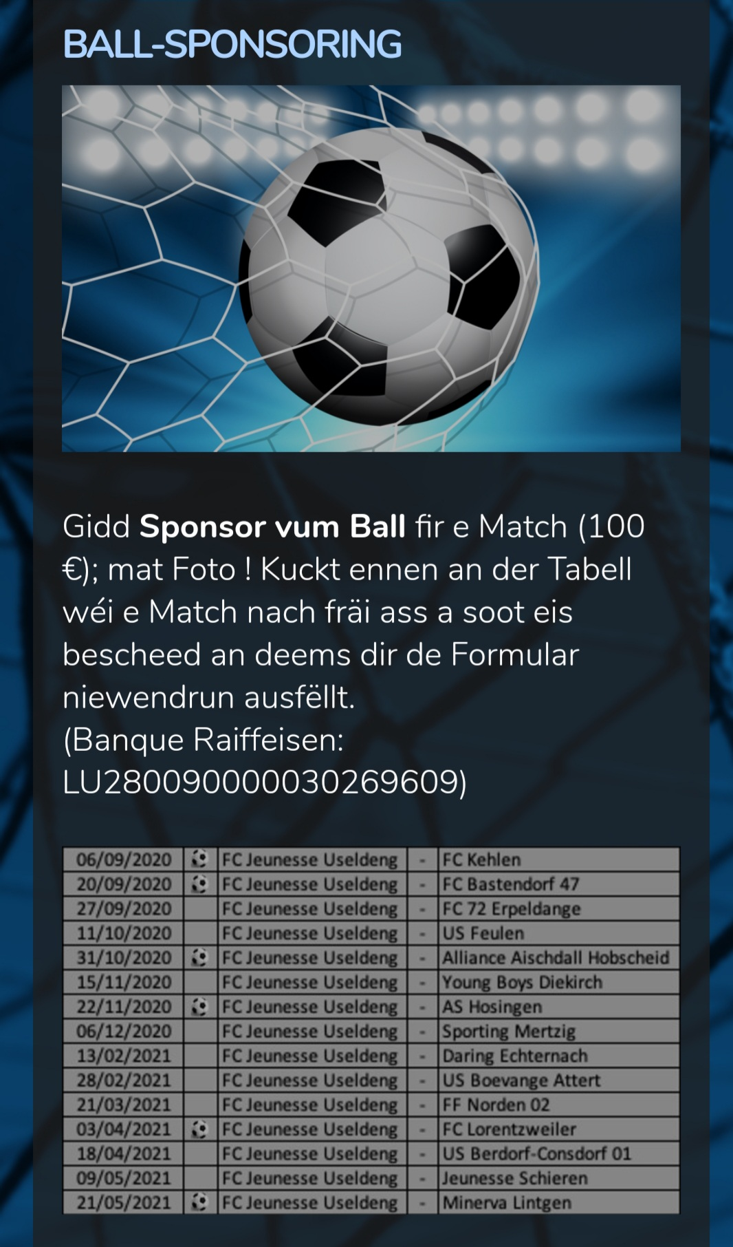Sponsoring Ball de Match
