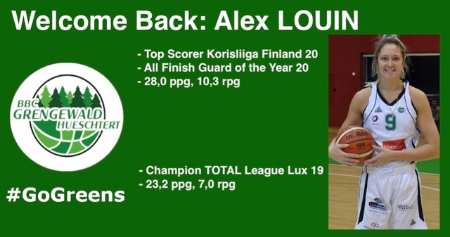 Alex Louin returns to the Greens!