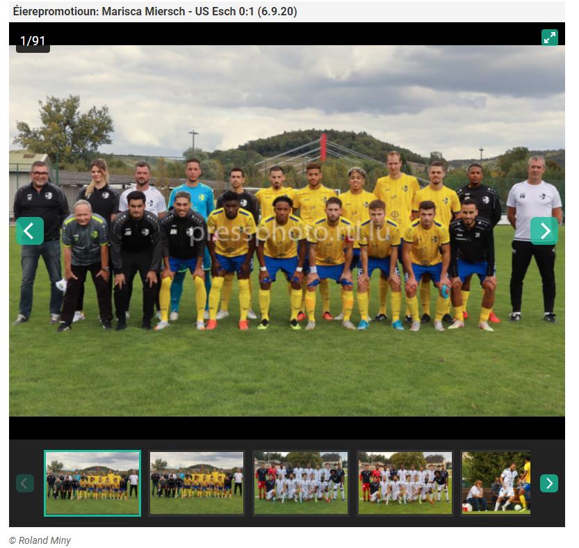 FC Marisca - US Esch : 0 - 1