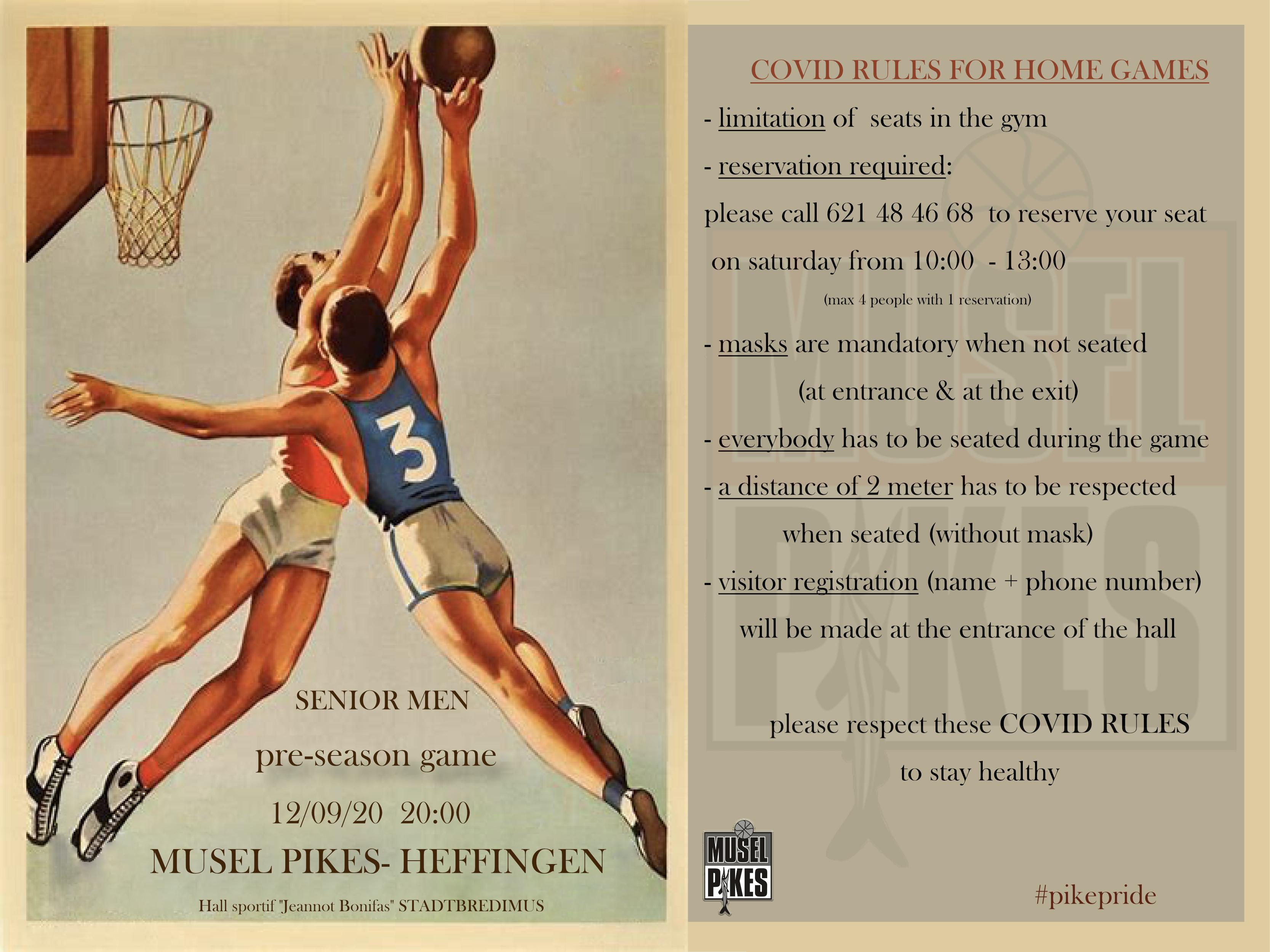 12/09/20 at 20:00 Practice Game Musel Pikes-Heffingen