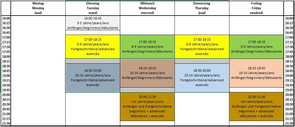 Trainingseinheiten nach den Schulferien / Judo lessons after school holidays / Entrainement après des vacances scolaires
