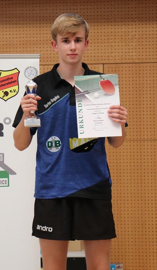 Darius Heyden mit Erfolg bei der Landesrangliste Jungen 18
