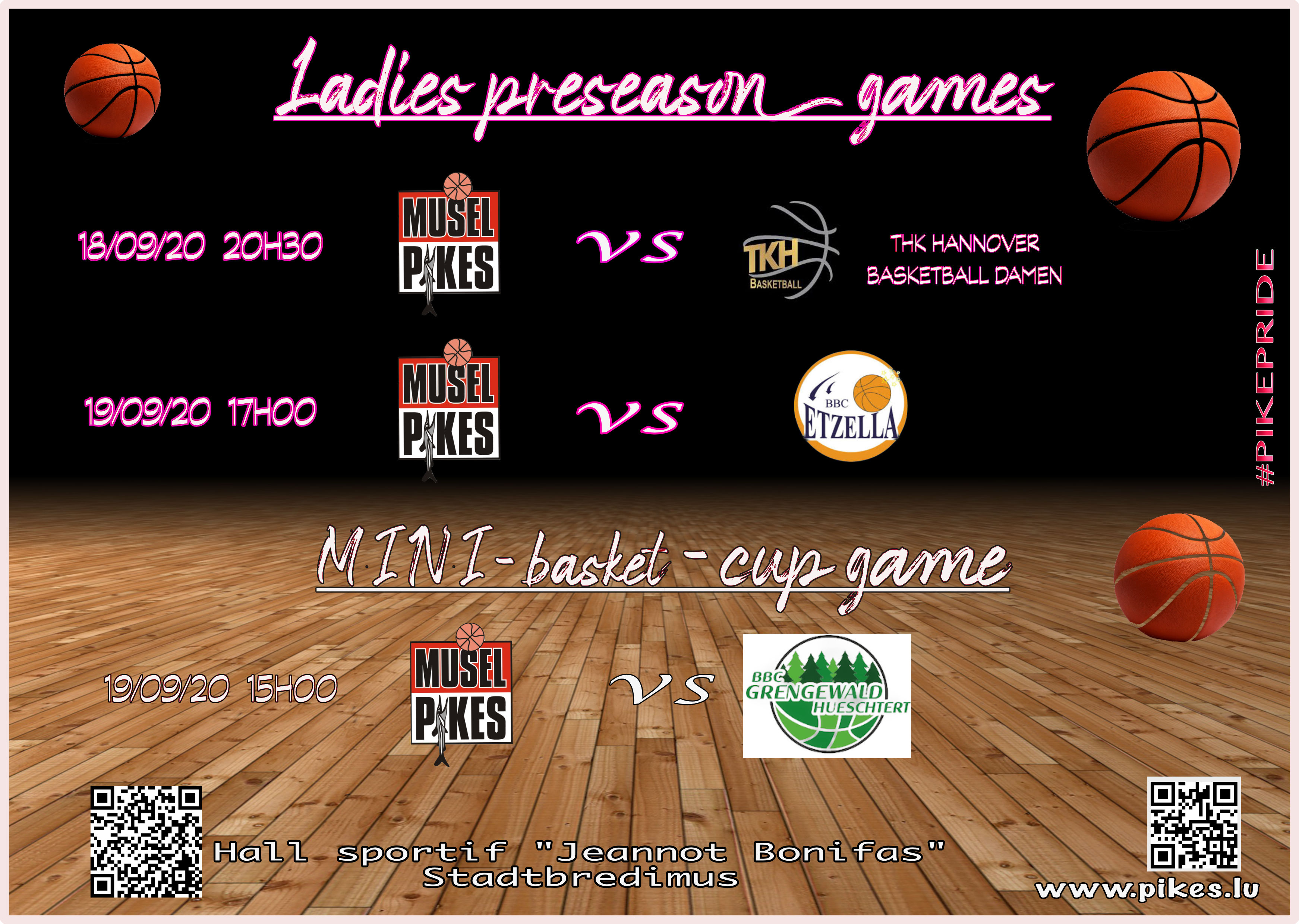 Pikes ladies preseason games & Mini cup game