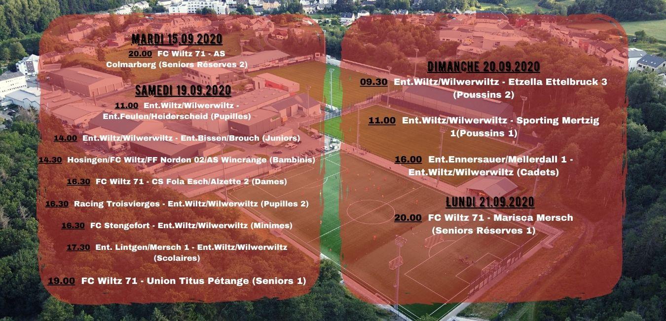 Programme du weekend! Venez supporter FC WILTZ 71!