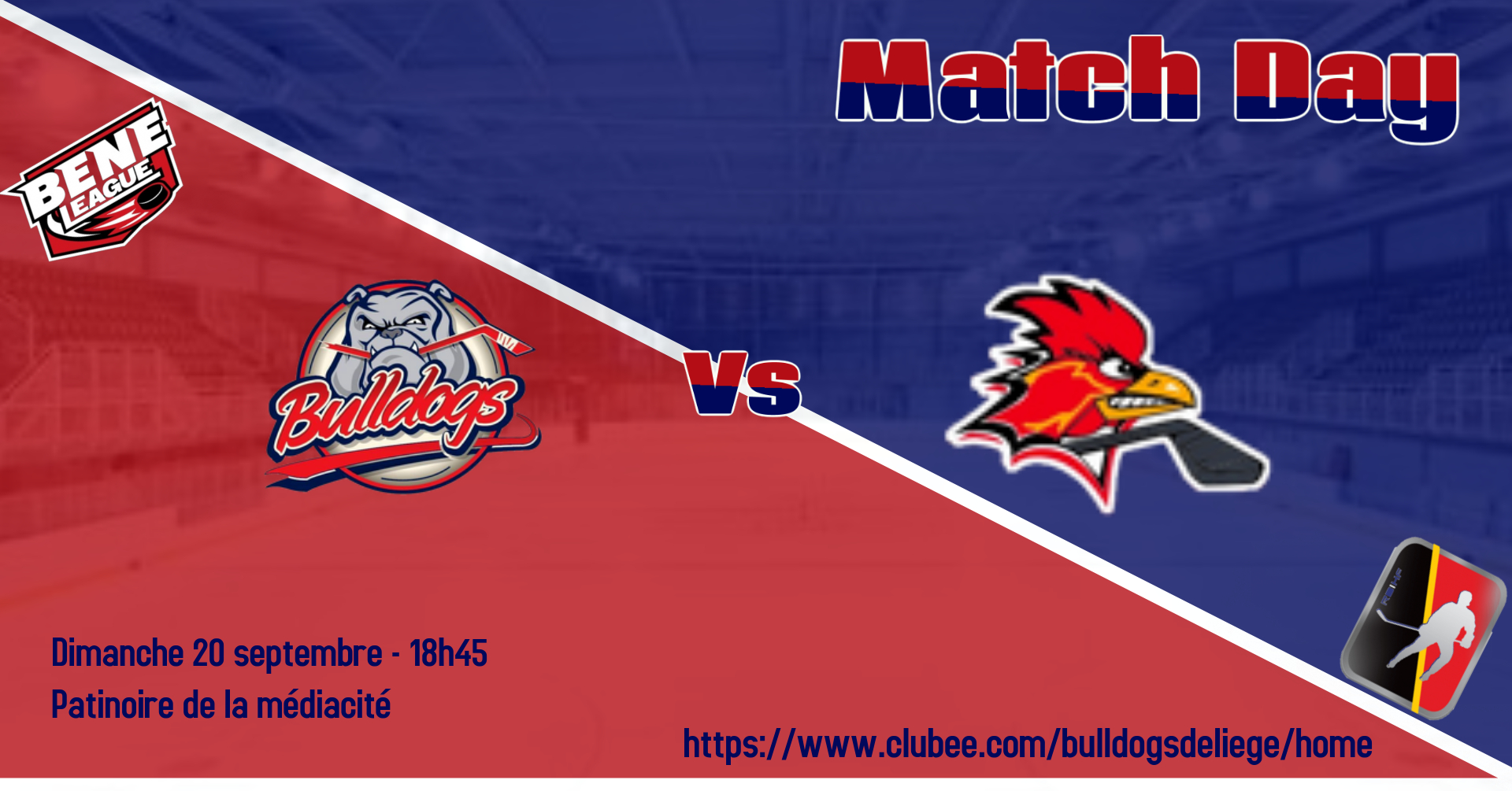 Match amical ce dimanche 20 contre les Red Roosters de Charleroi