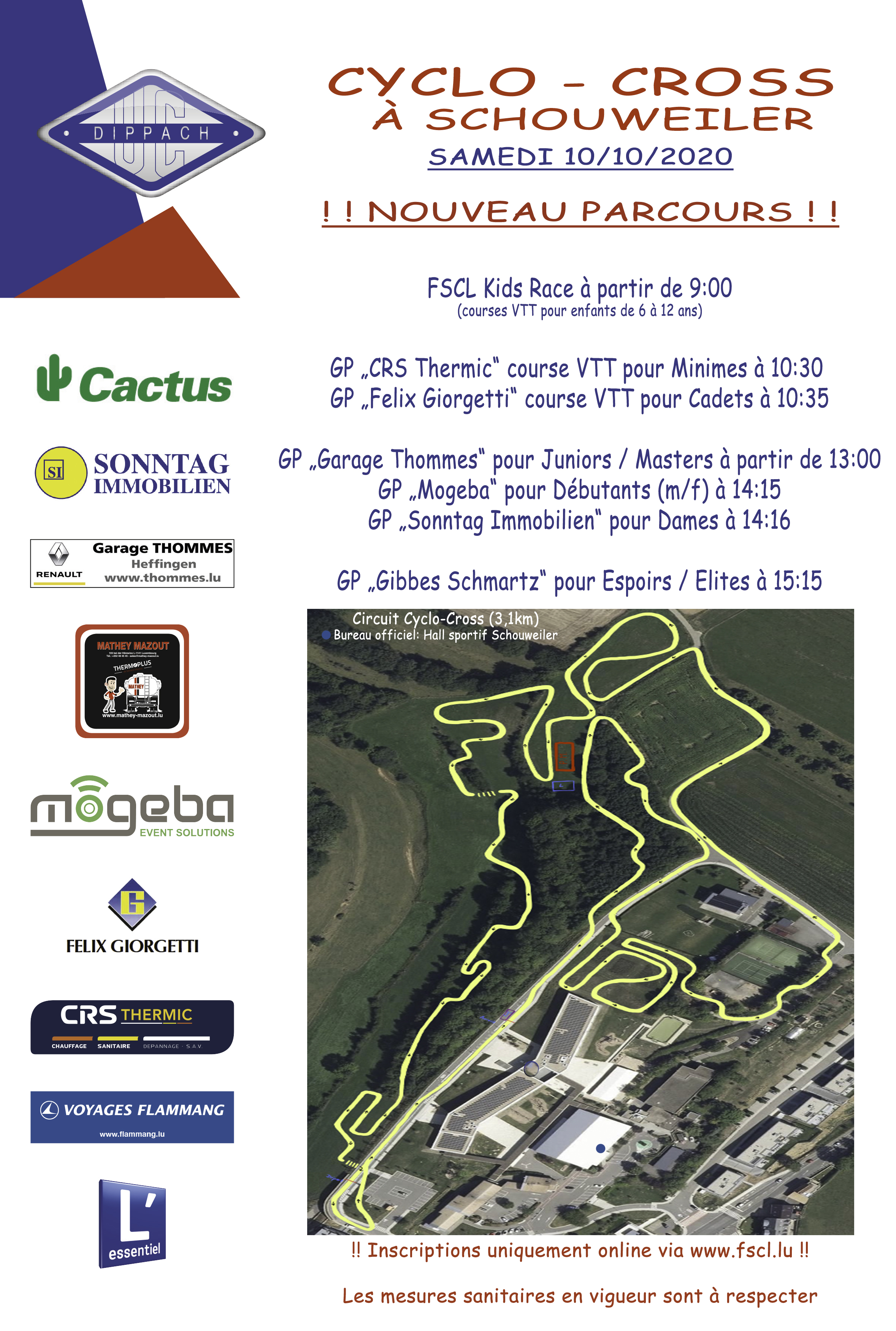 Cyclo-Cross  den 10/10/2020 zu Schuller
