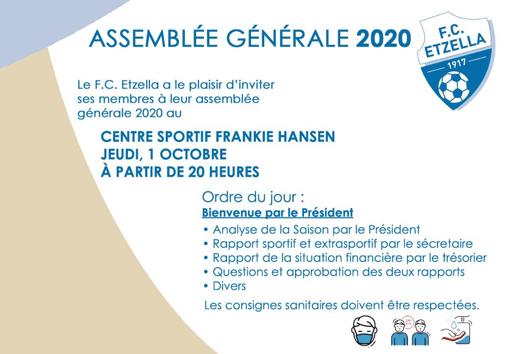 ASSEMBLÉE GÉNÉRALE 2020 FC ETZELLA