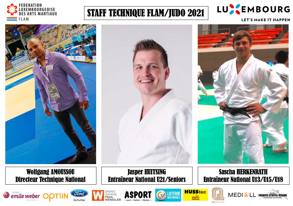 Neien Technesche Staff vun der FLAM/Judo ab Januar 2021