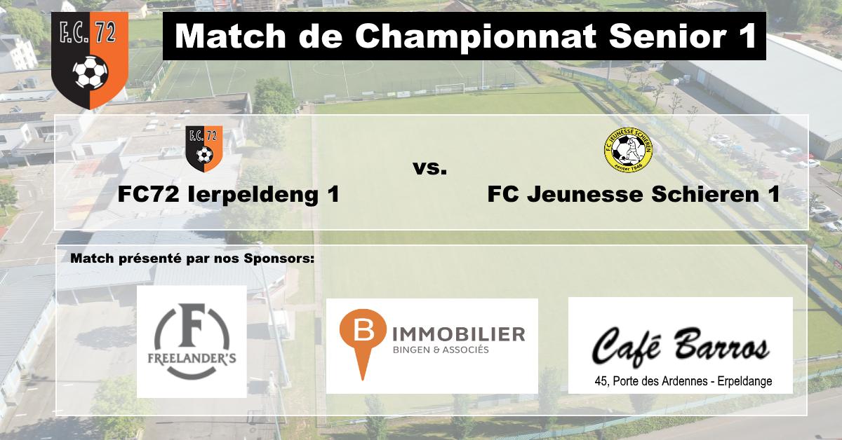 Dësen Sonden: FC72 Ierpeldeng vs. FC Jeunesse Schieren 1
