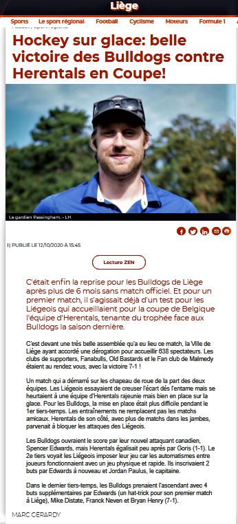 La Meuse web 12 octobre 2020