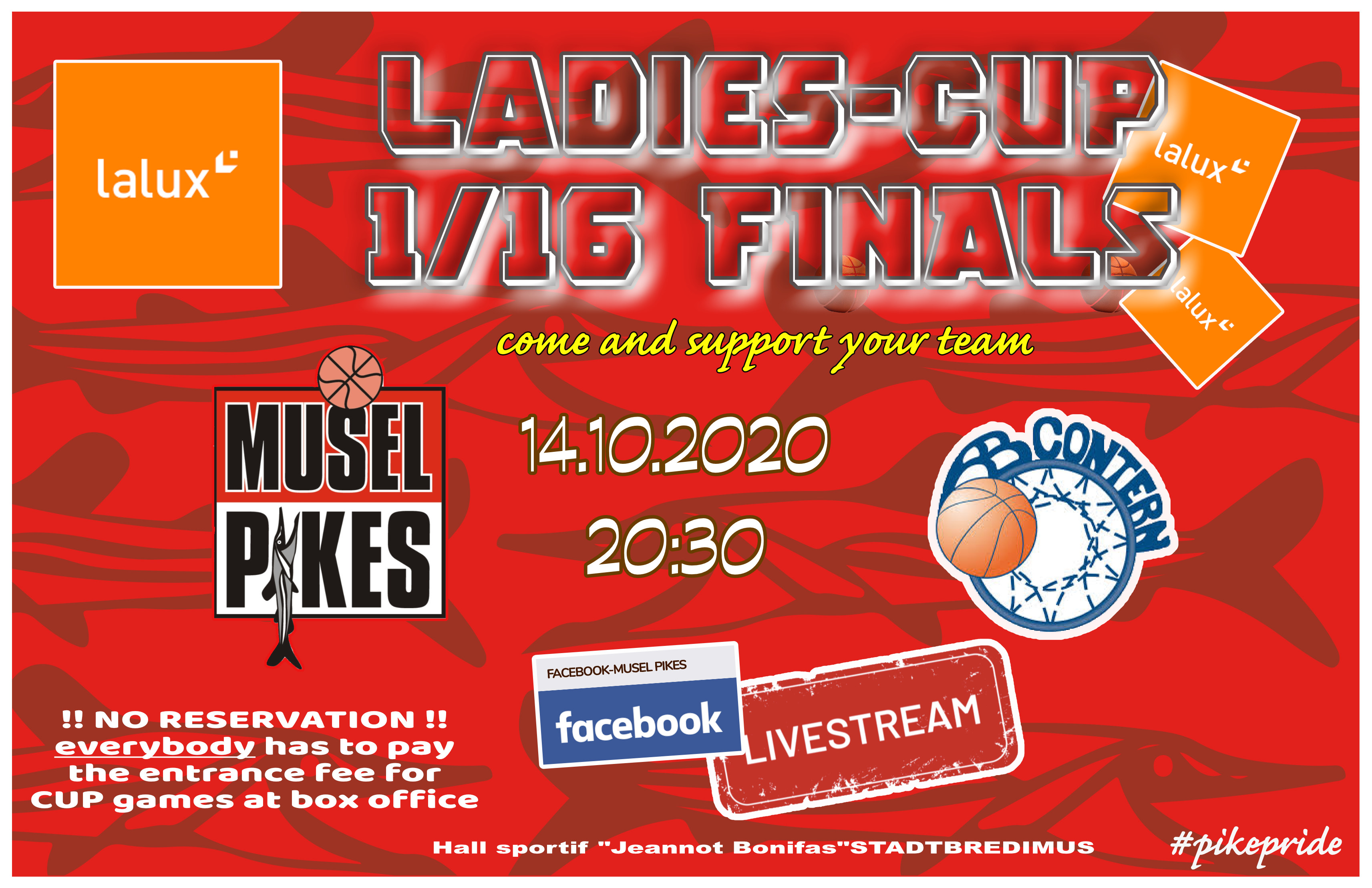 LaLux Ladiers Cup game Musel Pikes-AB Contern