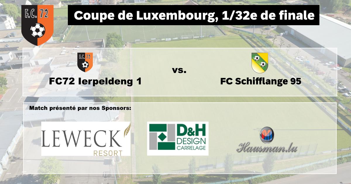 Dësen Sonden 18/10: Coupe de Luxembourg FC72 Erpeldange vs FC Schifflange 95