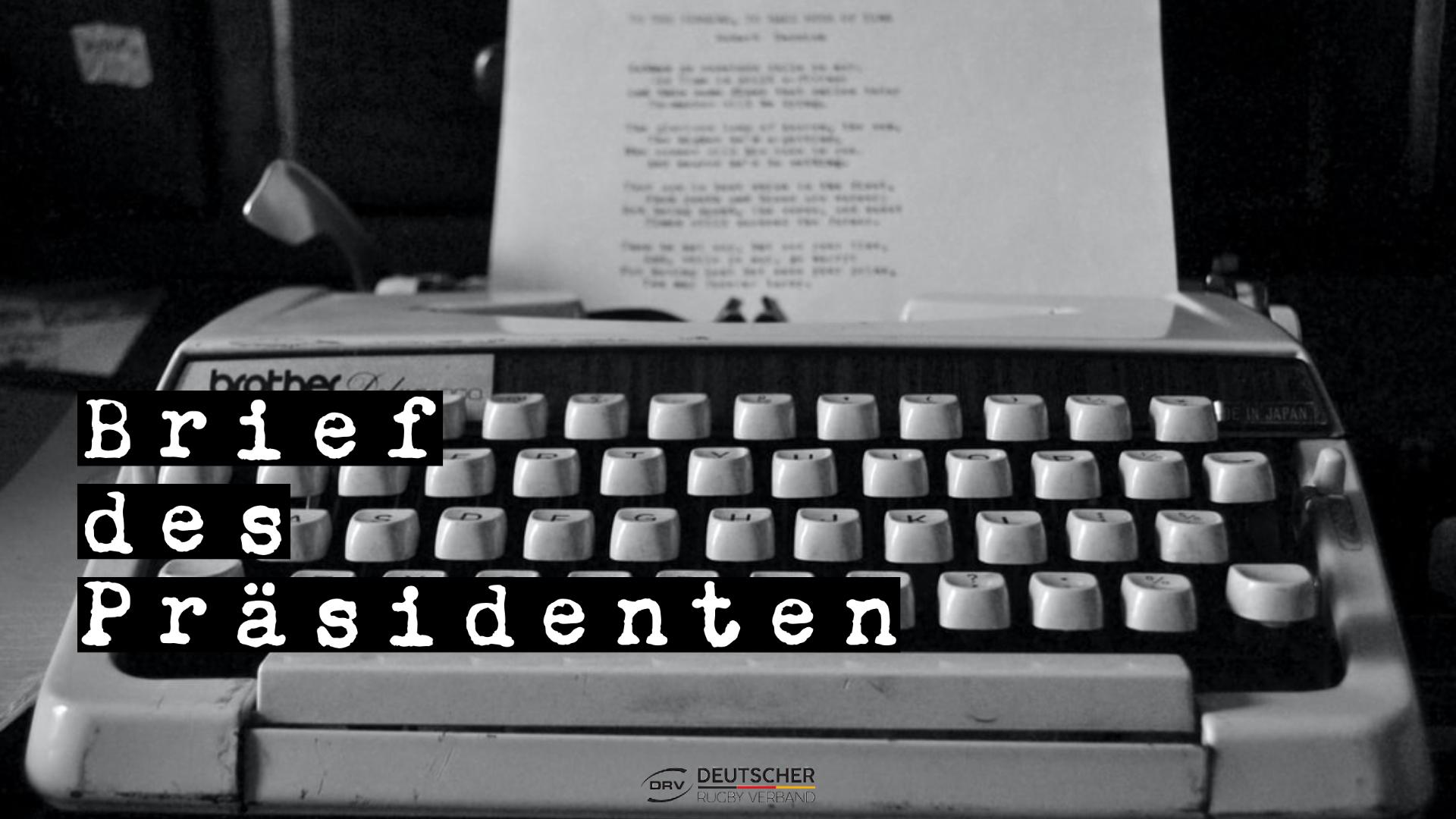 Brief des Präsidenten Harald Hees zum einjährigen Dienstjubiläum