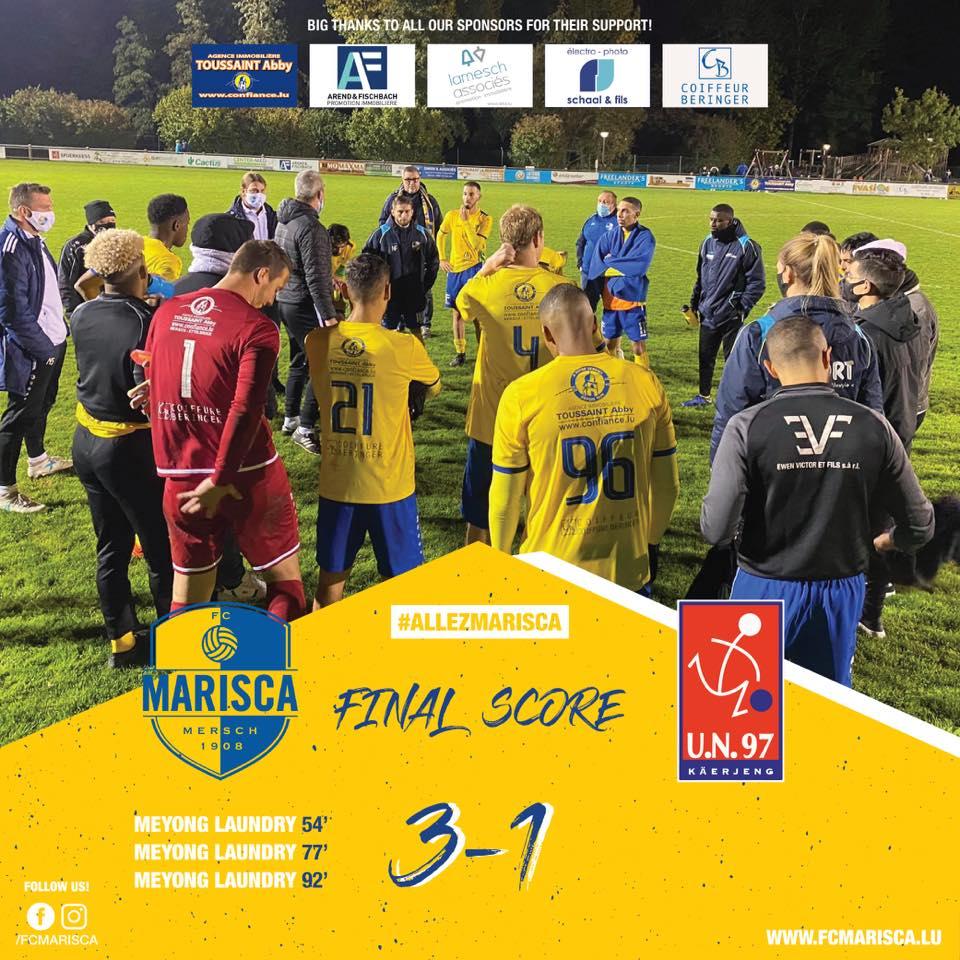 FC Marisca - UN Käerjeng 97 : 3-1