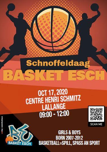 Schnoffeldaag 2020 - Kommt den 17. Oktober an d'Hall fir Basket aus ze probéieren
