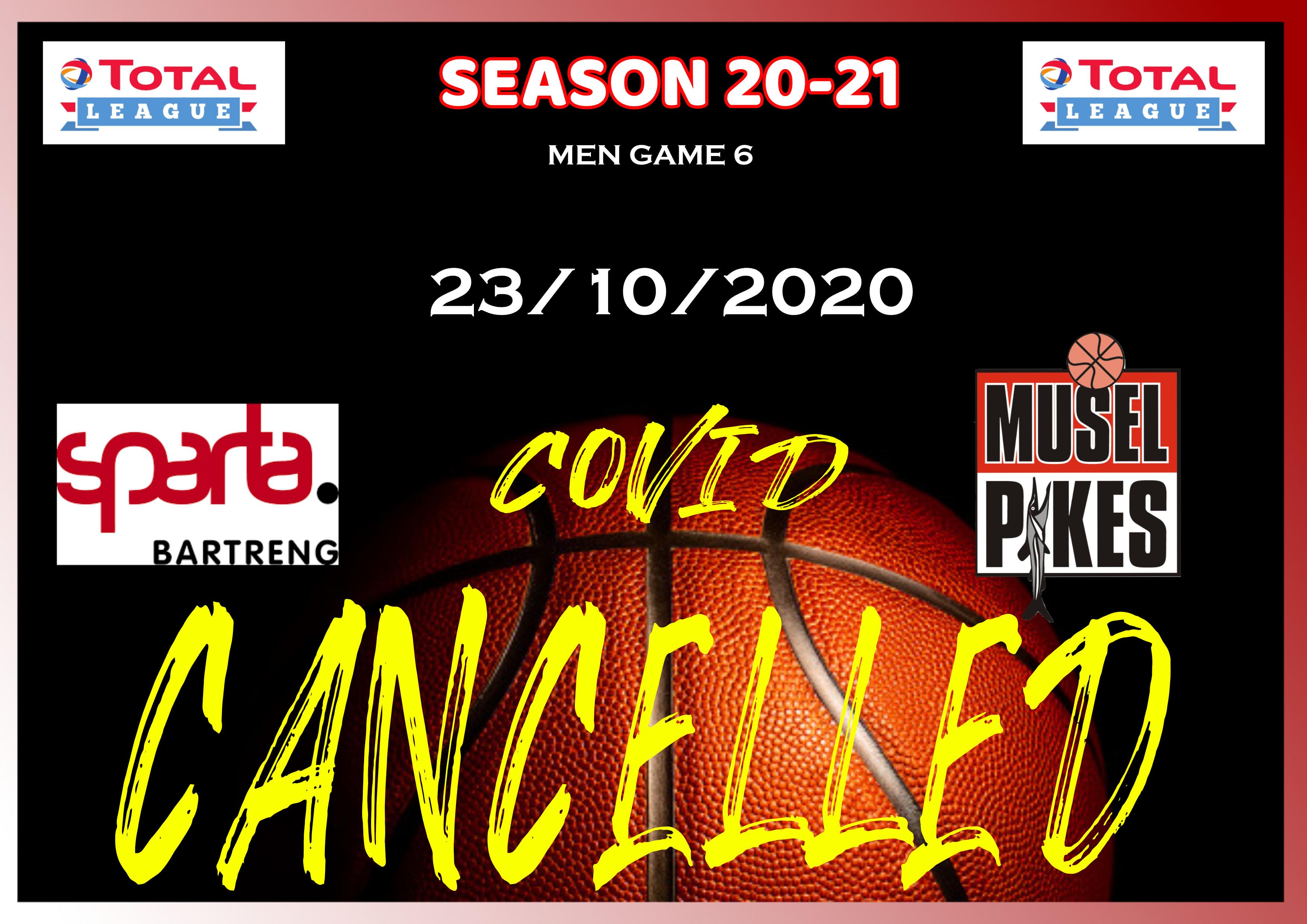 Game 6 men cancelled