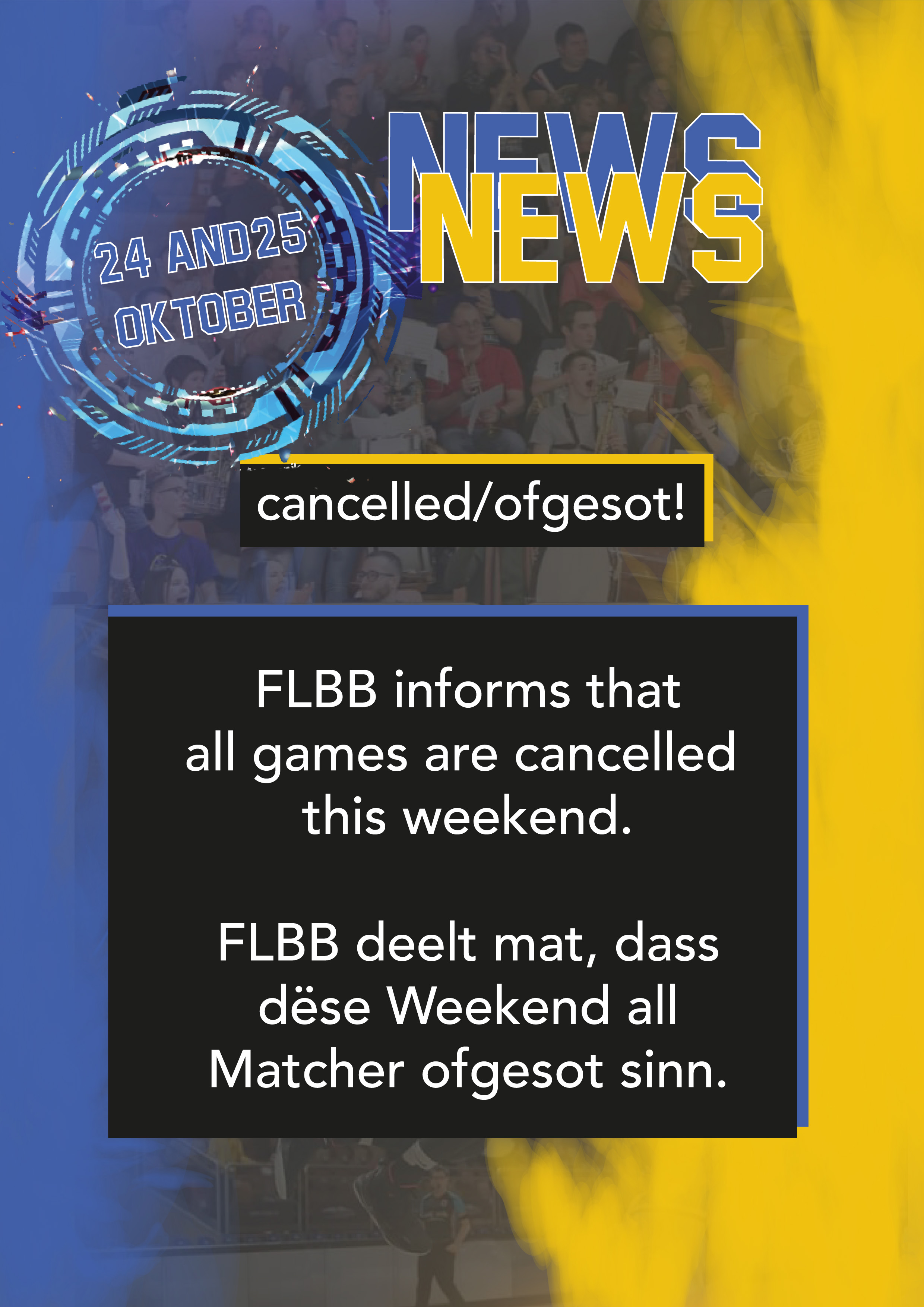News: cancelled/ofgesot!