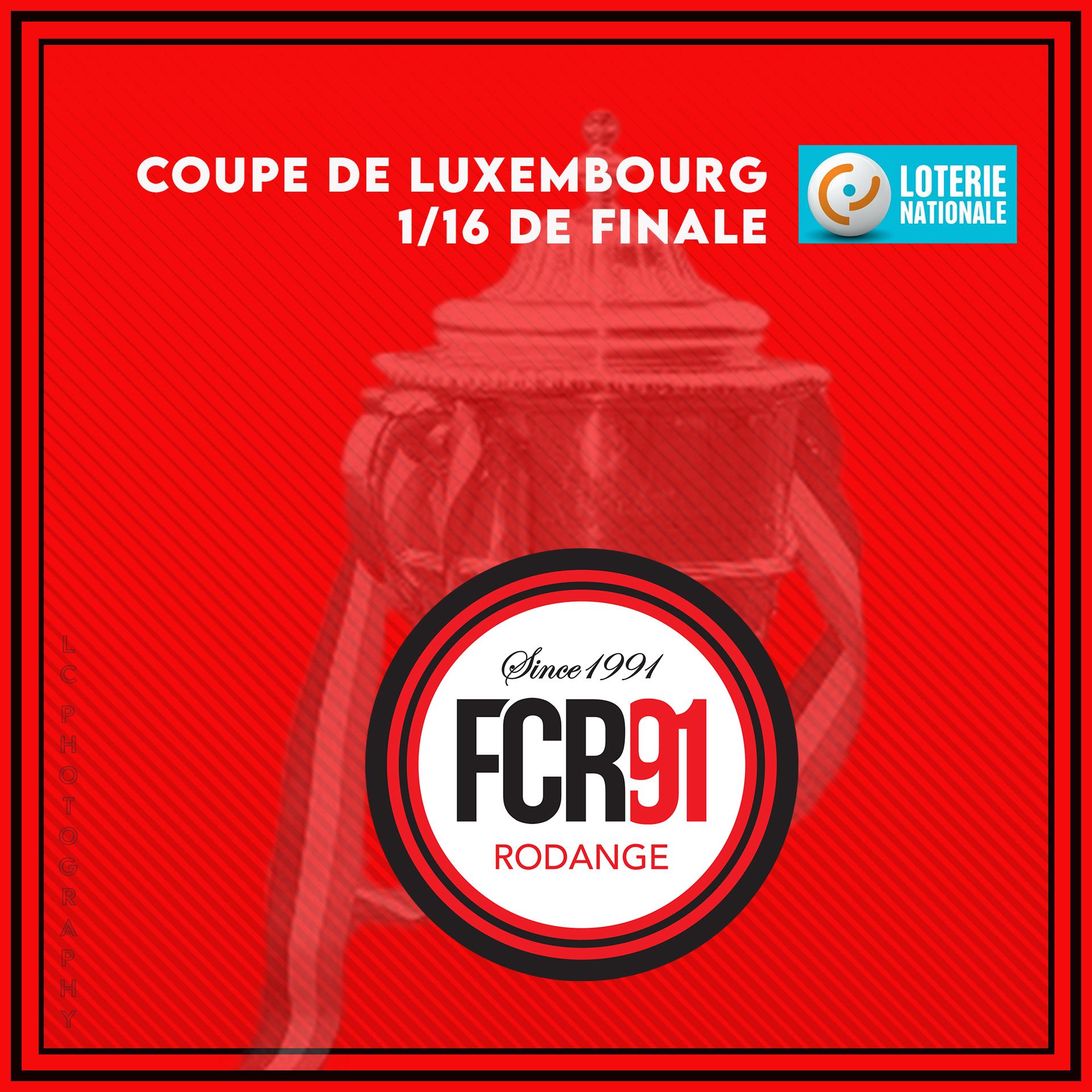 Tirage 1/16e de finale Coupe de Luxembourg