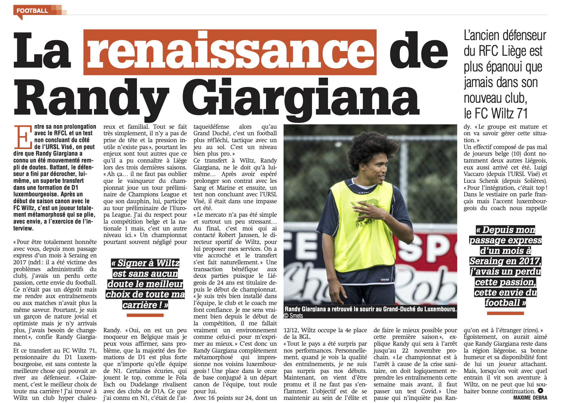 Interview: Randy Giargiana, unsere Nummer 26!