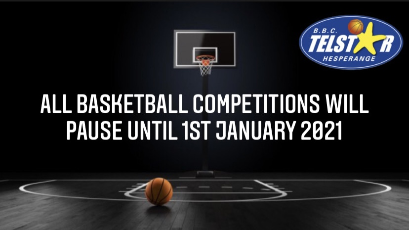 All basketball competitions will pause until 1st January 2021