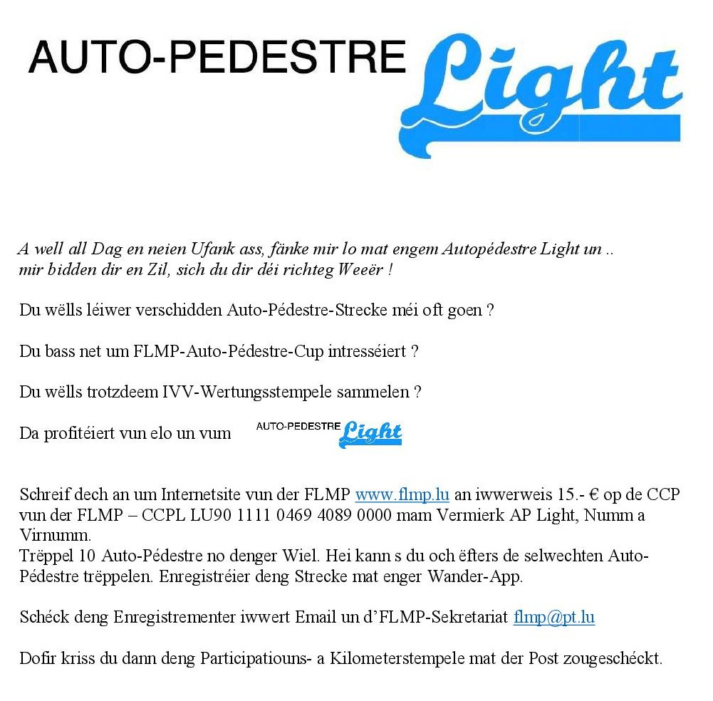 AUTOPÉDESTRE LIGHT