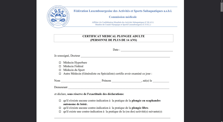 Nouveau certificat médical (Addendum COVID-19)
