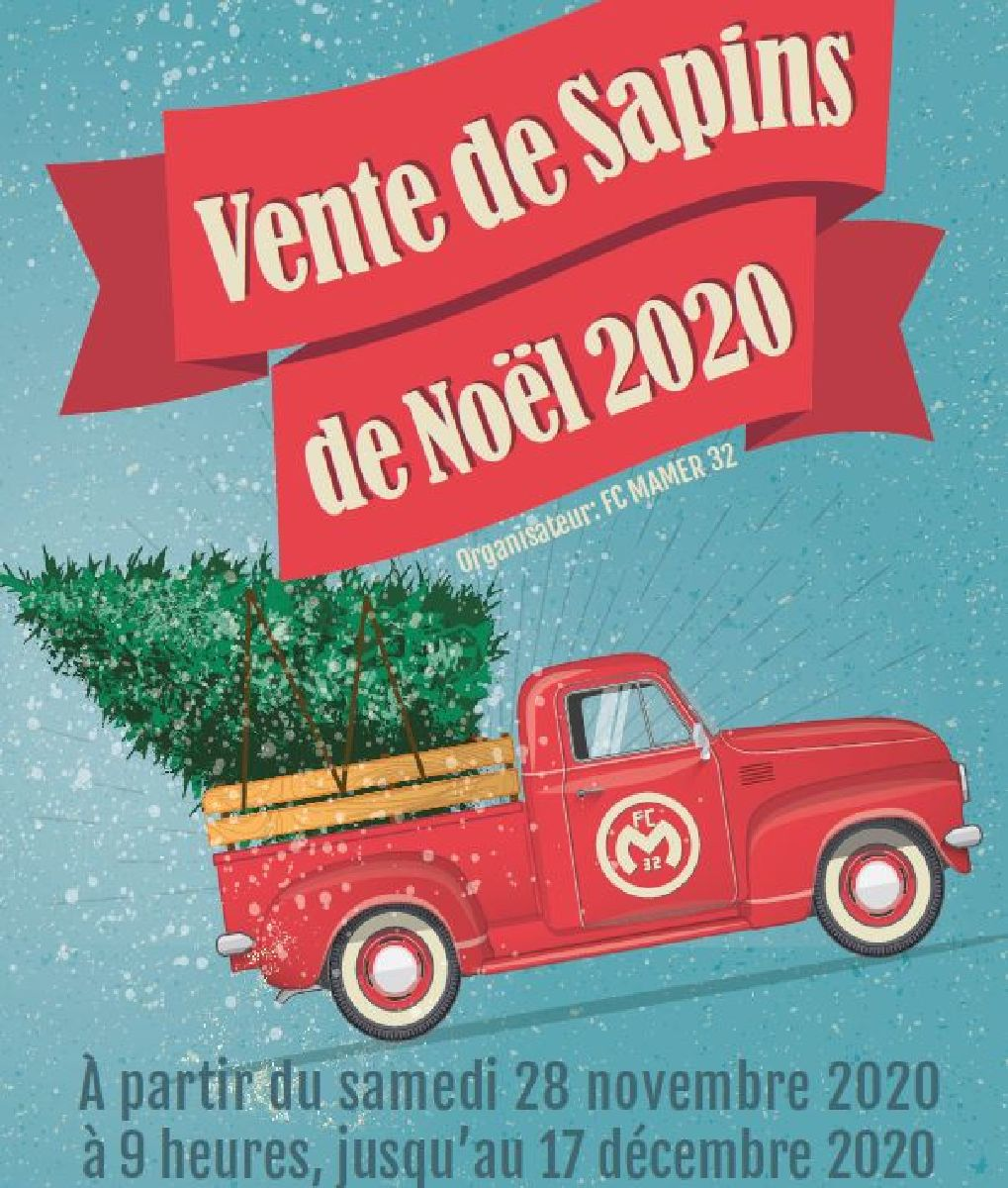 FC MAMER 32: vente de sapins de Noël 2020