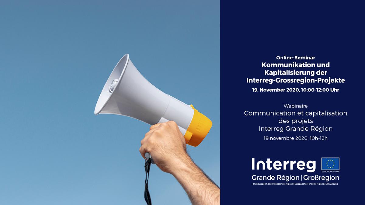 Webinar INTERREG V A Grande Région | Großregion - 19.11.2020