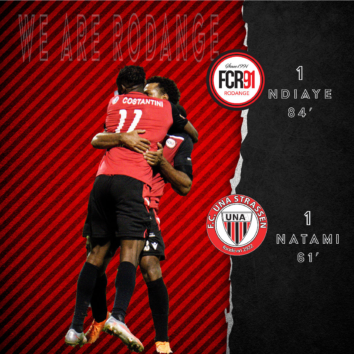 FC Rodange 91 - FC Una Strassen