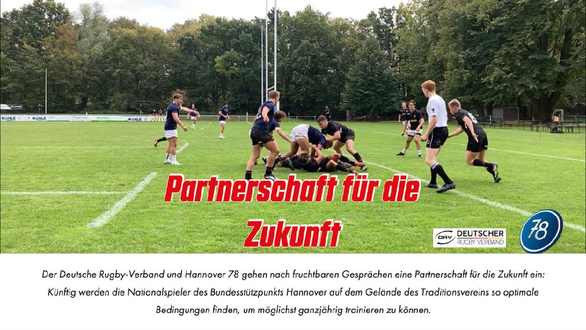 Deutscher Rugby-Verband und Hannover 78 gehen Kooperation ein
