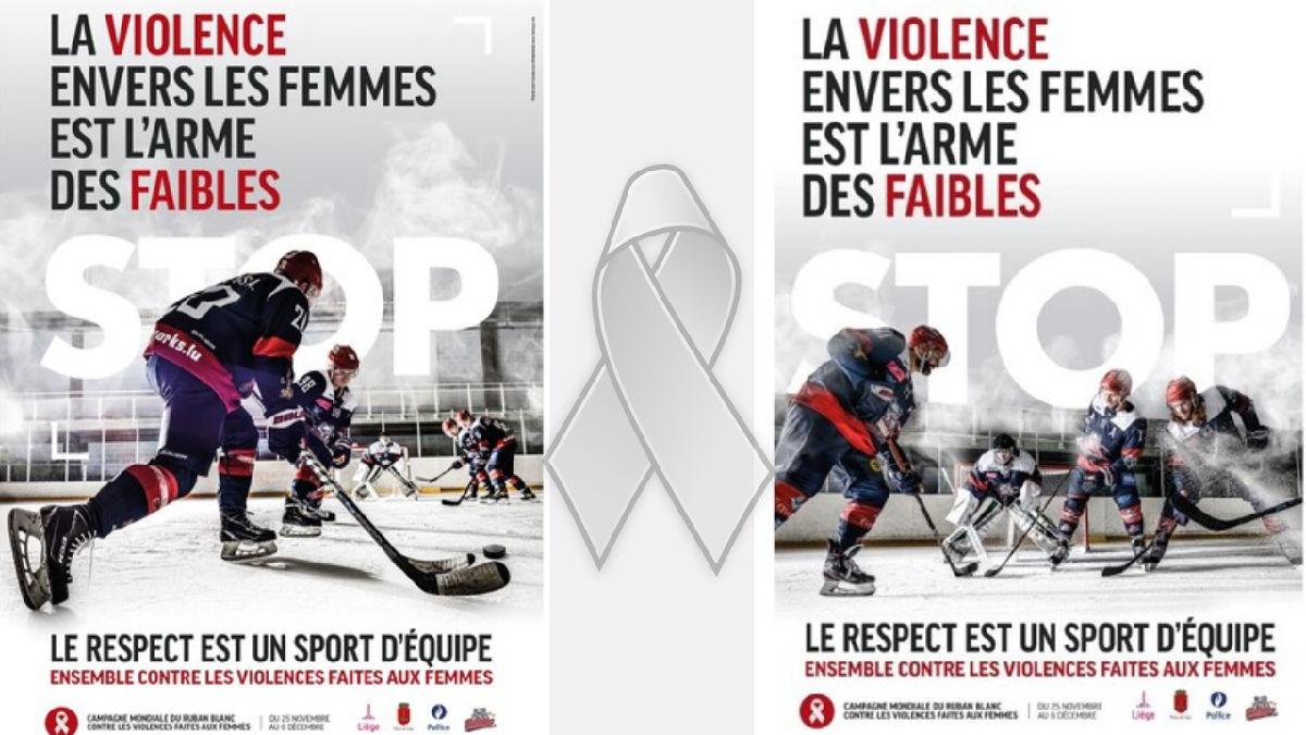 Les Bulldogs de Liège parrain de la campagne 2020 du ruban blanc contre la violence faite aux femmes