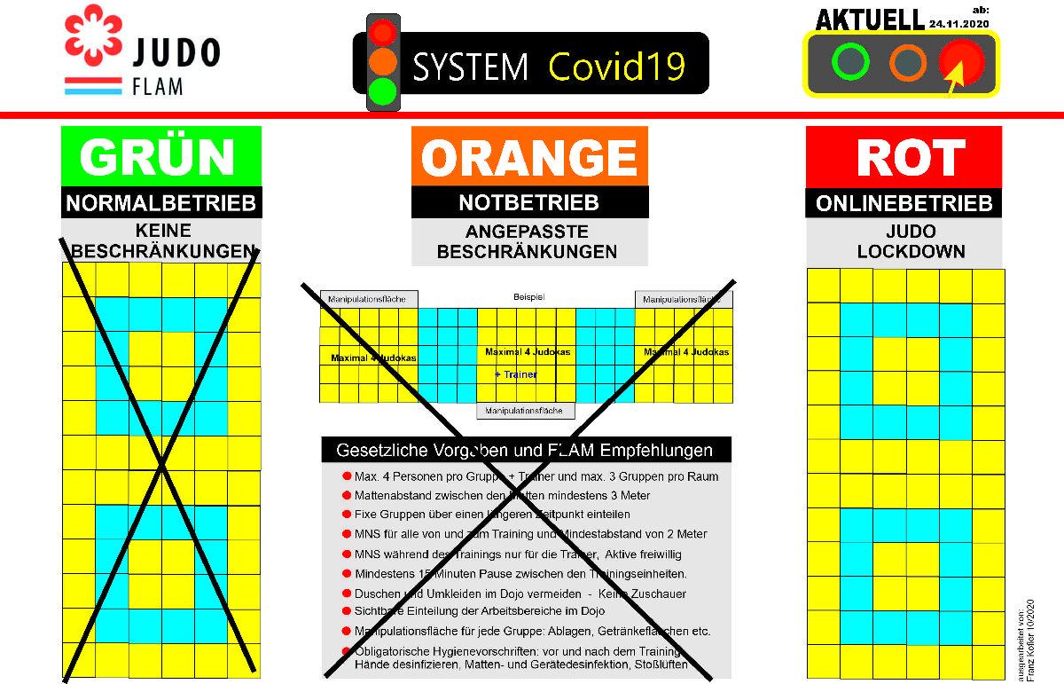 [COVID19 UPDATE] - Veräinstraininger am Dojo bis de 15.12.2020 net méi méiglech!