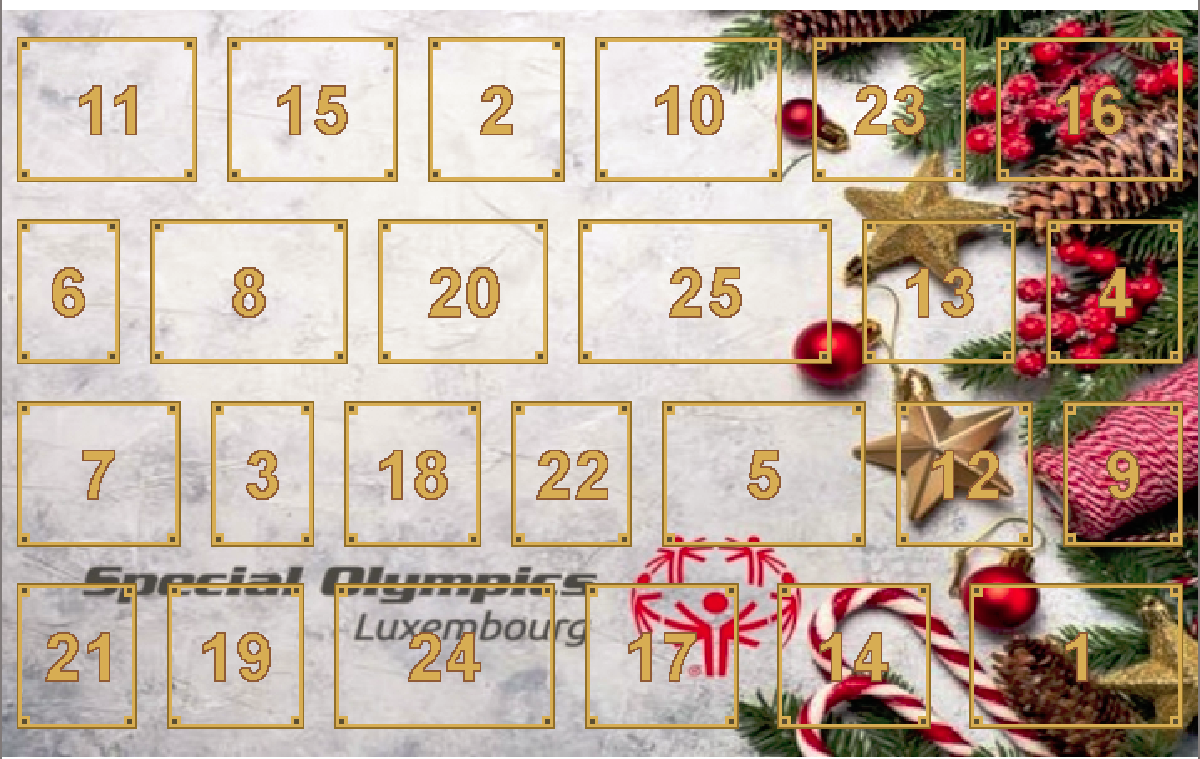 Special Olympics Calendrier d'Avent