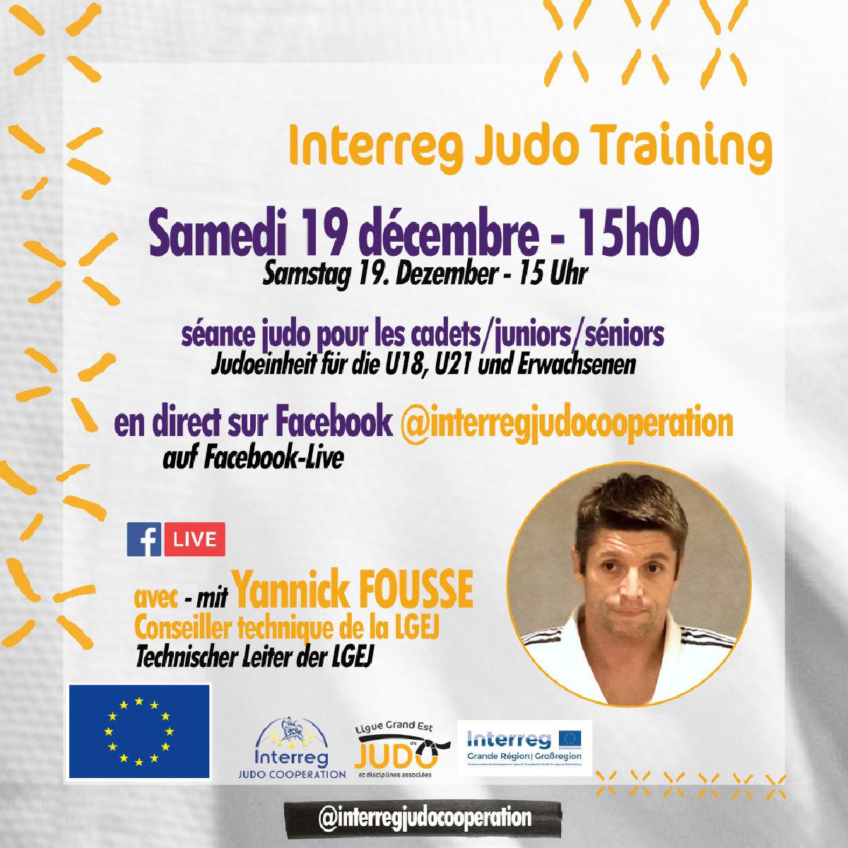 Interreg Judo Online Training U18 & U21 & Seniors - 19.12.2020